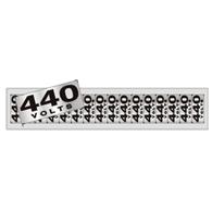 Placa de Aviso 440 Volts 5x25cm - C05098 - Indika