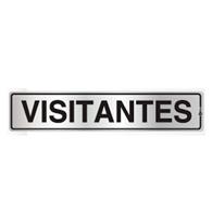Placa de Aviso Visitantes 5x25cm - C05093 - Indika