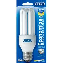 Lâmpada Eletrônica Tripla 20w X 127v Branca Fria (luz Branca) E27  01010174 Flc