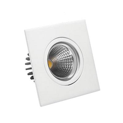 Luminária Led Quadrada de Embutir Dicróica 5w 6500k Luz Branca Fria Bivolt 350 Lúmens 432884 Brilia