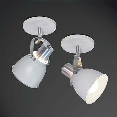 Spot Em Alumínio Prime Branco Para 1 Lâmpada E27, Spot Line