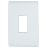 Placa 1 Posto Vertical Liz 4x2 Branca - Tramontina