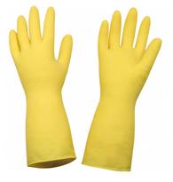 Luva Em Latex Antiderrapante Amarela Tamanho G - 906 Am - Mavel