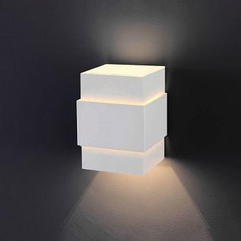 Arandela de Alumínio Cinta Lisa Branca G9 989-tv Lustres Ideal