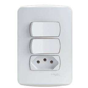 Conjunto Interruptor Simples + 1 Tomada 2p T 10a 250v - S3b69050 - Schneider - Miluz