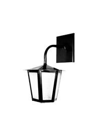 Lanterna L-1-b Preto Sextavado 30cm X 19cm - L-1-b Pt - Lustres Ideal