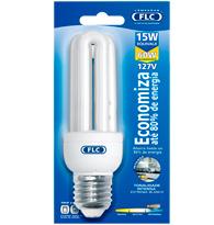 Lâmpada Eletrônica Mini Tripla 15w X 127v 6400k Luz Branca Fria E27 01050502  Flc