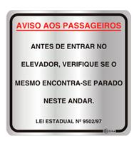 Placa de Aviso Aos Passageiros 16x16cm - C16022 - Indika