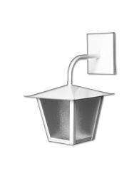 Lanterna Quadrada Branca 33cm X 20cm L-4-b Br Lustres Ideal