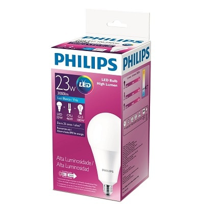 Lâmpada Led High Lumen Alta Potência 23w E27 Bivolt, Philips