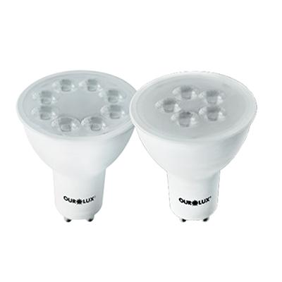 Lâmpada Led Dicroica 6w Bivolt Luz Branca Fria Gu10 - Ourolux
