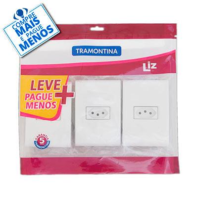 Kit Tomadas Tramontina Liz 2p+t 10a 250v 57410/811 - Tramontina
