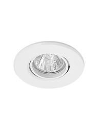 Spot de Embutir Redondo Dirigível de Alumínio Para 1 Lâmpada Dicroica de Até 50w  Branco - Mf 10050 Br - Metal Técnica