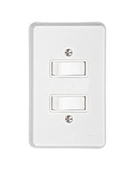 Conjunto Com 1 Interruptor Simples + 1 Intermediário Paralelo Embutir Com Placa Branco - Prm921b - Schneider - Prime Toc