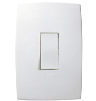 Conjunto Placa 4x2 Com 1 Interruptor Paralelo Vertical Ref. 611101 - Pial Legrand Plus