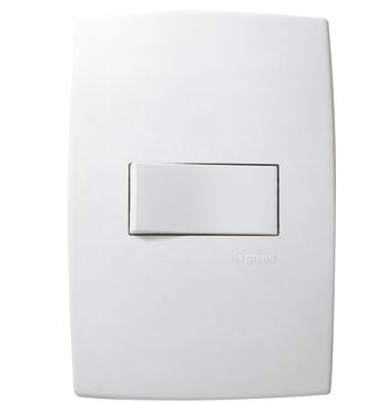 Placa 4x2 C/ 1 Interruptor Simples Horizontal Pial Plus