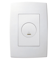Conjunto Placa 4x2 Com 1 Variador Luminoso Digital Bivolt Ref. 611139 - Pial Legrand Plus