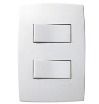 Conjunto Placa 4x2 Com 2 Interruptores Simples Ref. 612100 - Pial Legrand Plus