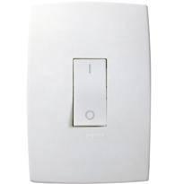 Conjunto Placa 4x2 Com 1 Interruptor Bipolar Simples Ref. 612105 - Pial Legrand Plus