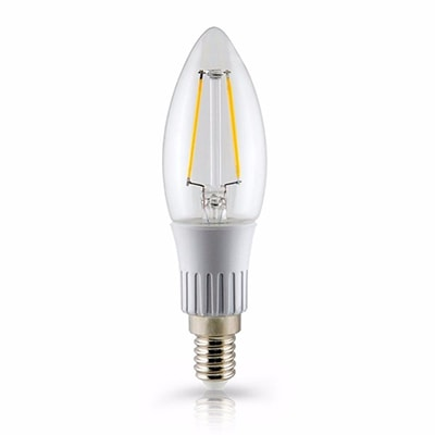 Lâmpada LED Filamento Vela Lisa 3W Bivolt Luz Amarela - Ourolux
