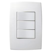 Conjunto Placa 4x2 Com 1 Interruptor Simples e 2 Paralelos 10a Ref. 613104 - Pial Legrand Plus