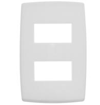 Placa 4x2 P/ 2 Módulos Separados Ref. 618506 Pial Legrand Plus