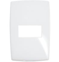 Placa 4x2 Para 1 Módulo Horizontal Pial Plus Gloss