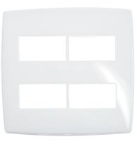 Placa Gloss 4x4 P/2 + 2 Módulos Separados Ref. 618534 - Pial Legrand Plus