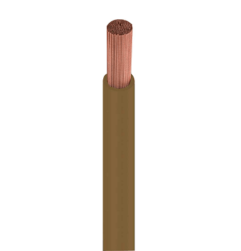 Fio Cabo Flexível 1,5mm 750v Marrom Rolo Com 100 Metros 1150412401 Cobrecom