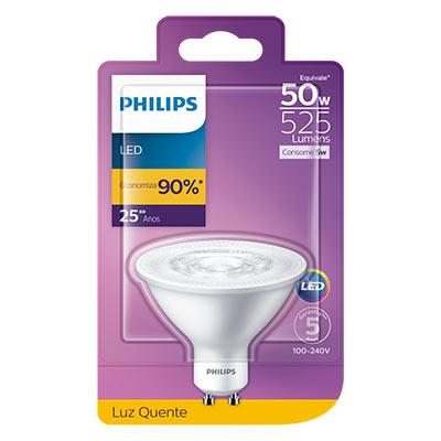 Lâmpada Led Ar70 Gu10 5-50w  Mv 2700k 525lm Certificada - Philips