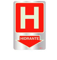 Placa de Aviso Hidrante Fotoluminescente 16x25 - F25001 - Indika