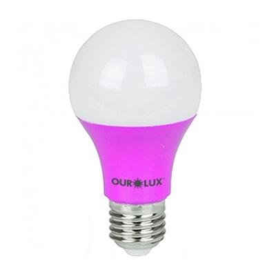 Lâmpada LED Bulbo 7W  Rosa Ourolux