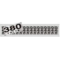 Placa de Aviso 380 Volts 5x25cm - C05097 - Indika