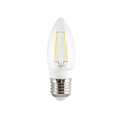 Lâmpada Led Filamento Vela Lisa 3w Bivolt Luz Branca - Ourolux