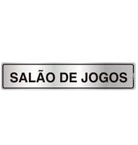Placa de Aviso Salão de Jogos 5x25cm - C05017 - Indika