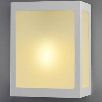 Arandela de Alumínio Trapézio Branca Soquete E27 281 Br Lustres Ideal