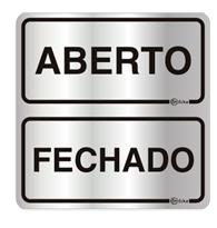Placa de Aviso Aberto/fechado 16x16cm - C16045 - Indika