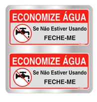 Placa de Aviso Economize Água 16x16cm - C16026 - Indika
