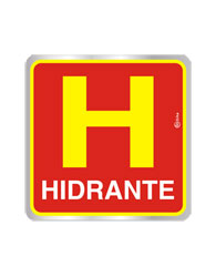 Placa de Aviso Hidrante 16x16cm - C16017 - Indika