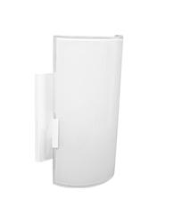 Arandela Canaleta Metal/vidro Branco 7cm X 11cm X 18cm Para 1 Lâmpada E-27 - 067 Bc - Emalustres
