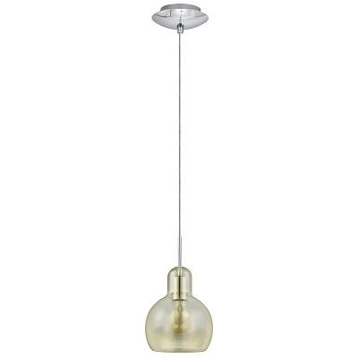 Pendente Luminária Em Aço Cromado Para 1 Lâmpada E27 40w, Eglo