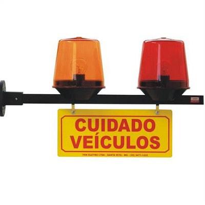 Sinalizador de Garagem Luminoso Sequencial 220v - Tkn