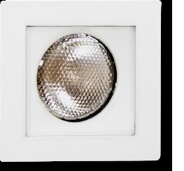 Spot de Embutir Quadrado Recuado Dirigível de Alumínio Para 1 Lâmpada Par20 de Até 50w Branco - Mf 130 Br - Metal Técnica