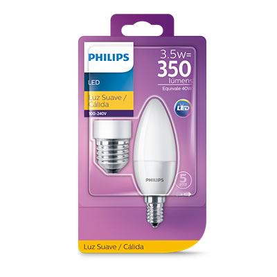 Lâmpada Led Vela Cand 3,5-40w E14/e27 2700k 350lm Certificada - Philips