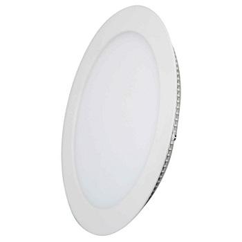 Painel Led de Embutir Redondo 6w Bivolt 3000k Luz Branca Amarelada 420 Lumens 9455 Gaya
