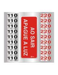 Placa de Voltagem 110v/ 220v 16x16cm - C16035 16x16 - Indika