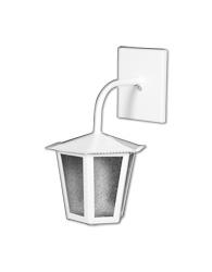 Lanterna L-1-b Branco Sextavado 30cm X 19cm -  L-1-b Br - Lustres Ideal
