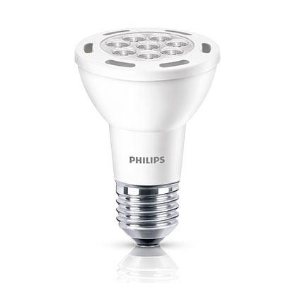 Lâmpada Led Par20 7w 2700k 525lm Branco Quente Certificada - Philips