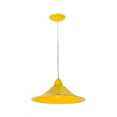 Pendente Bahrein Amarelo Bivolt Para 1 Lâmpada E27 - Kin Light