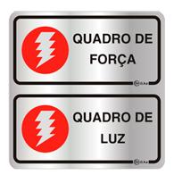 Placa de Aviso Quadro de Força/ Quadro de Luz 16x16cm - C16028 16x16 - Indika